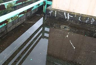 防水危険信号:排水不良