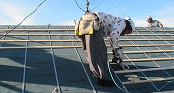 屋根材を再利用するので環境に優しいリフォームです