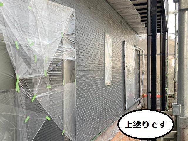 外壁塗装 上塗り