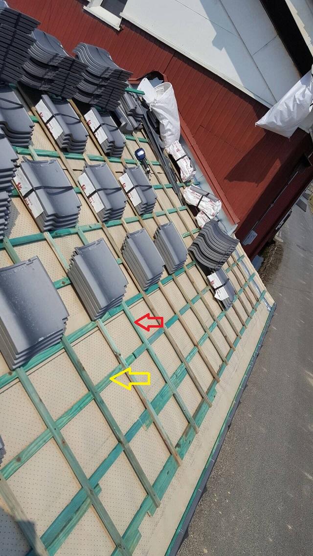 伊賀市引掛け桟葺き工法