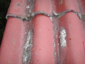 伊賀市工場スレート屋根塗装剥離