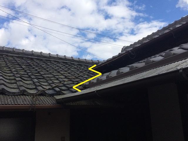 伊賀市谷板雨漏り形状