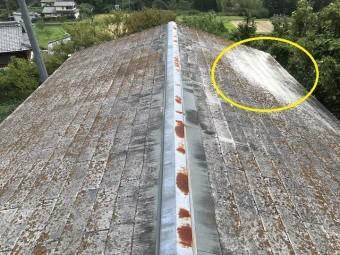 名張市 カラーベスト屋根の点検①の逆向き