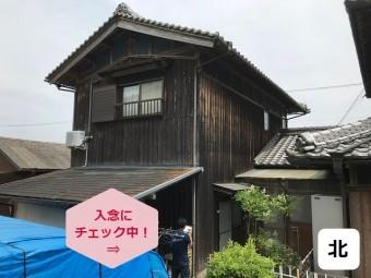伊賀市 木造住宅 北側のカビ