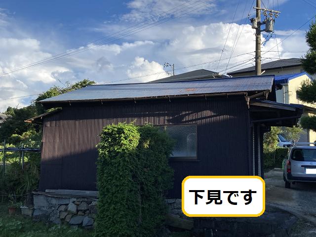 伊賀市で錆びたトタン屋根の塗装の下見に行きました