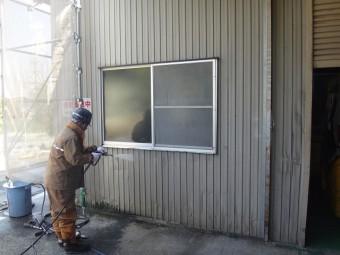 伊賀市 外壁トタン塗装前準備
