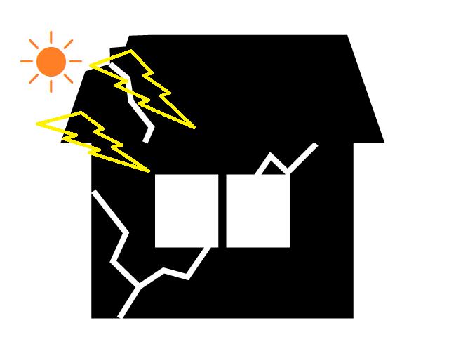 屋根外壁 紫外線劣化