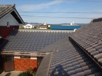 伊賀市 日本瓦葺き替え、ポリカ波板張り替え完工