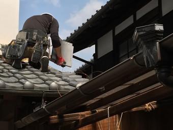 袖瓦 下屋根