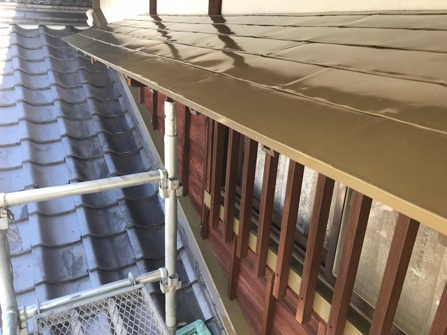 銅板 塗装 下屋
