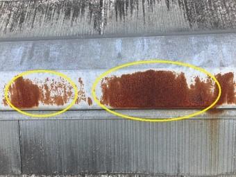 名張市 カラーベスト屋根の点検(棟の劣化)