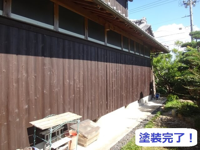 伊賀市 木材保護塗料 塗り替え後