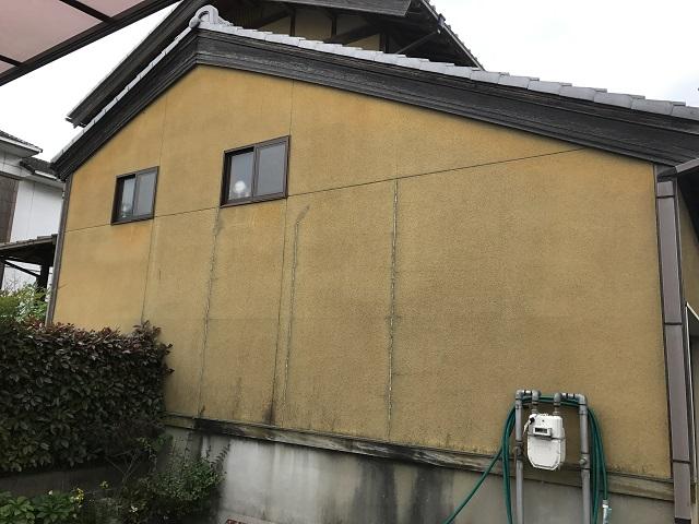 伊賀市 リシン壁 ひび割れ