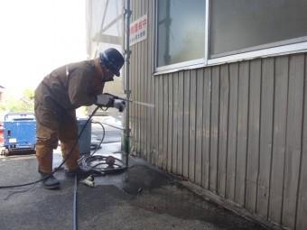 三重県伊賀市 工場外壁トタン高圧洗浄