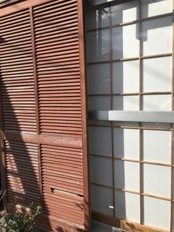 名張市 掃き出し窓の建具 修理前