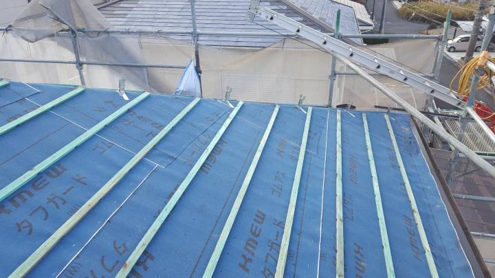 伊賀市 平板瓦葺き前の写真