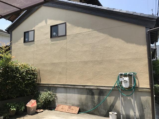 伊賀市 リシン壁 ひび割れ修繕