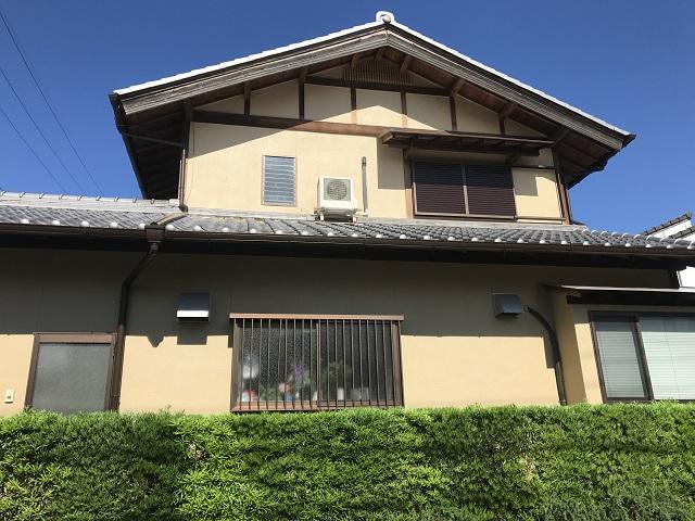 伊賀市 リシン壁塗り替え後 全体写真