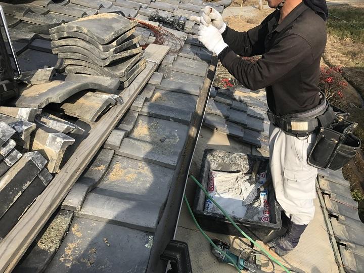 伊賀市 下屋根 雨漏り修理