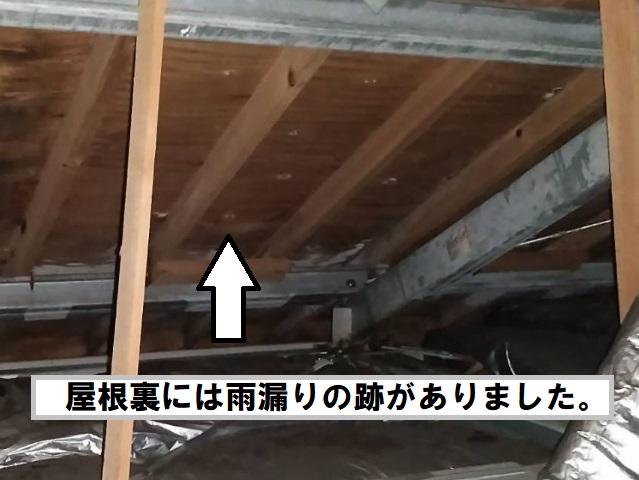 下見 屋根裏