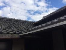 伊賀市 築80年風呂屋根雨漏り