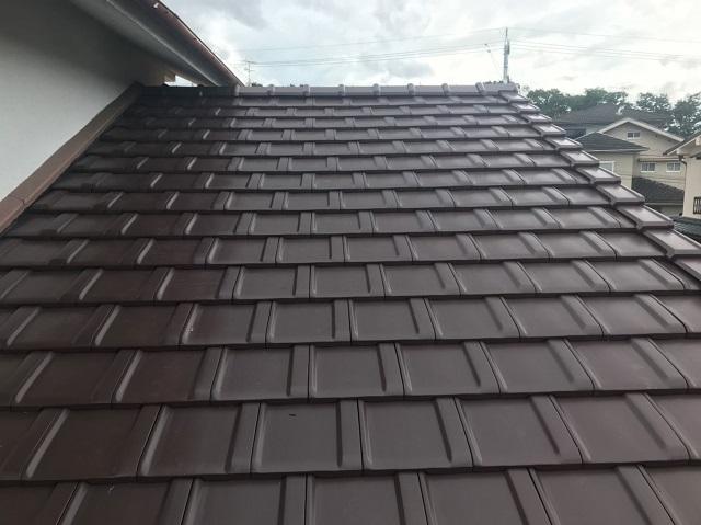 完工 葺き替え 下屋根