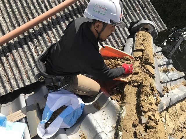 伊賀市 日本家屋瓦屋根棟ばらし