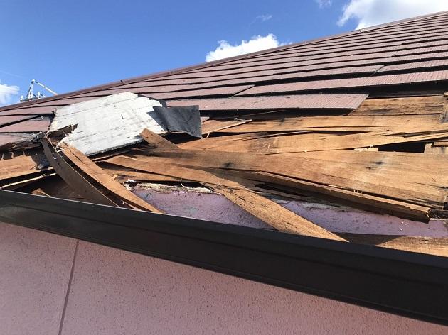 名張市 台風被害 屋根損壊