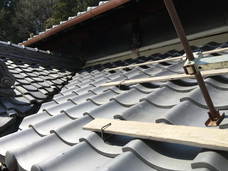 下屋根 葺き替え