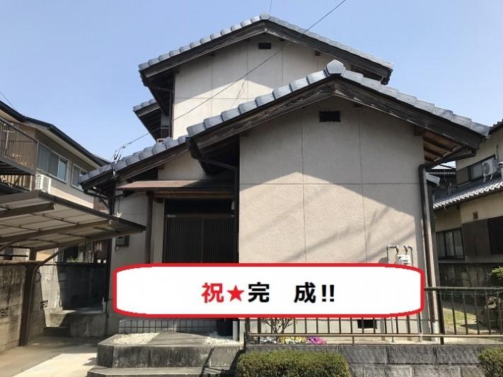 伊賀市 陶器瓦和形から平板形に葺き替え