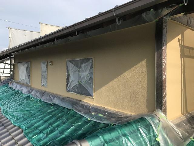 伊賀市 外壁塗り替え 上塗り完了
