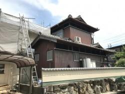 伊賀市 トタン壁 修理前