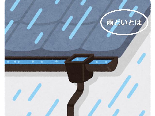 雨どい 絵 コラム