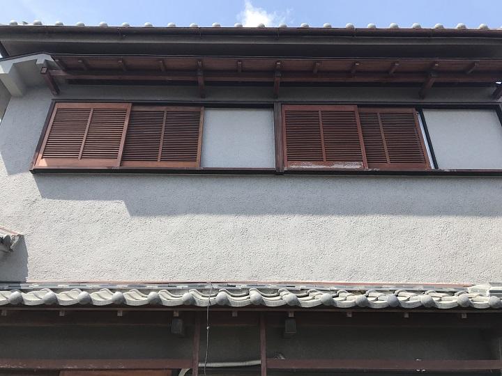名張市 モルタル壁 復旧後