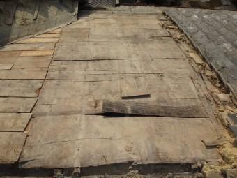 伊賀市 雨漏り痕 野地板