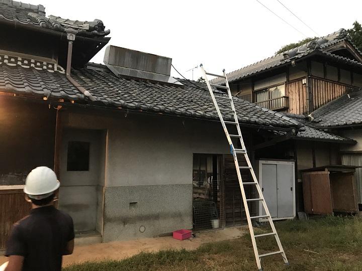 名張市 日本瓦屋根全体