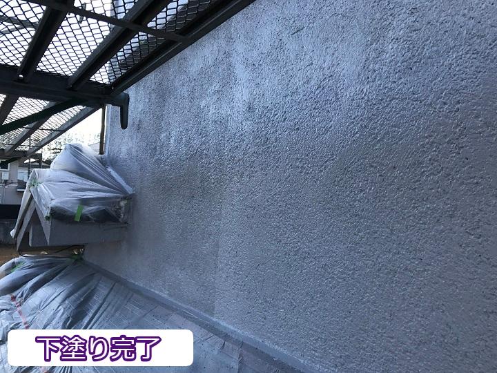 名張市 下塗り完了 セラミック塗装