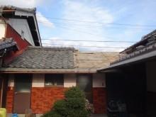 伊賀市 風呂屋根雨漏り野地板
