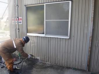 伊賀市 工場外壁高圧洗浄