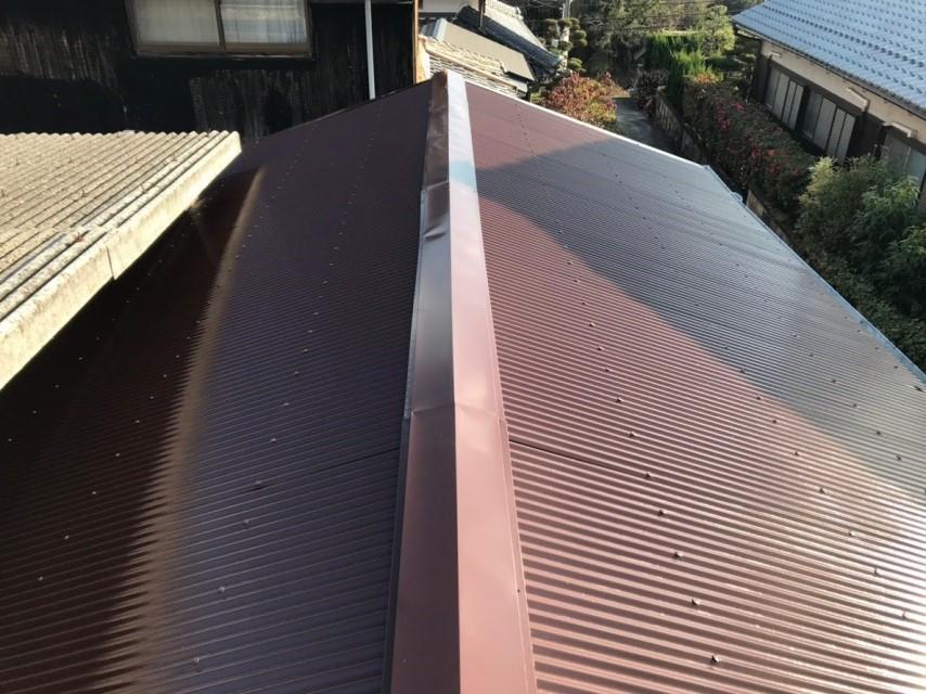 名張市 屋根塗装 工事後