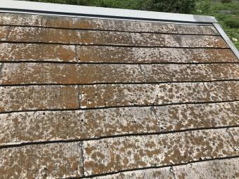 名張市 カラーベスト屋根の点検(側面)