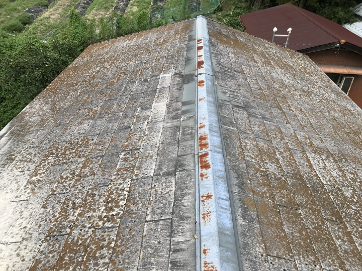 名張市 カラーベスト屋根の点検
