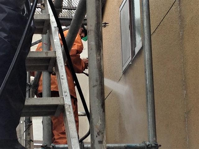 壁 高圧洗浄