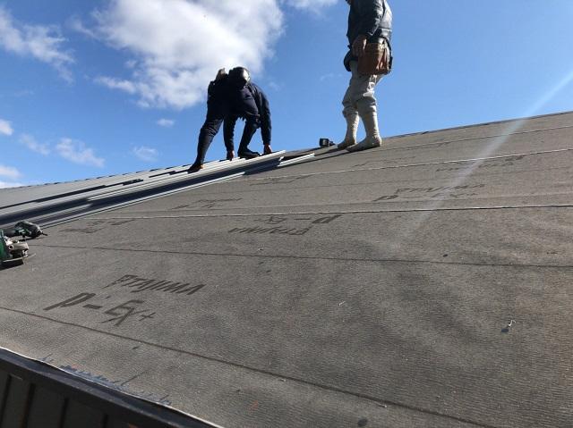 名張市で瓦屋根から金属屋根へ葺き替えました