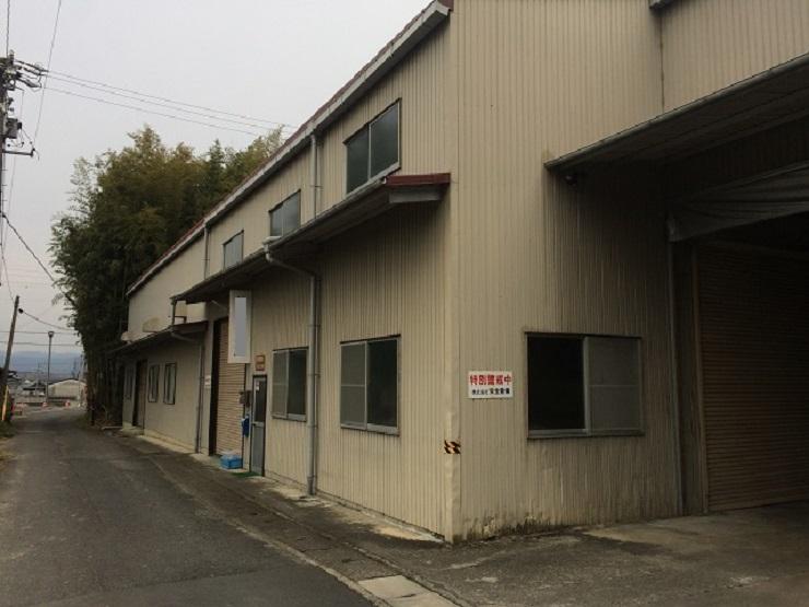 伊賀市工場工外壁トタン塗装工事前