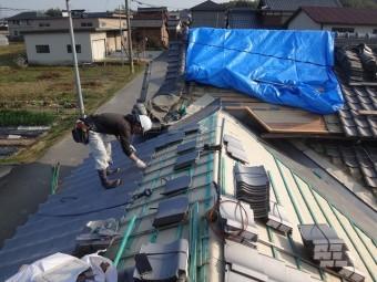 伊賀市 日本瓦葺き工事桟瓦