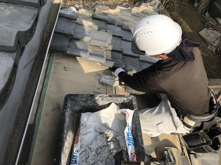 伊賀市 葺き直し 土葺き工法