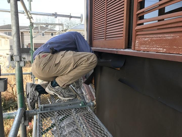 名張市 壁復旧 防水シート