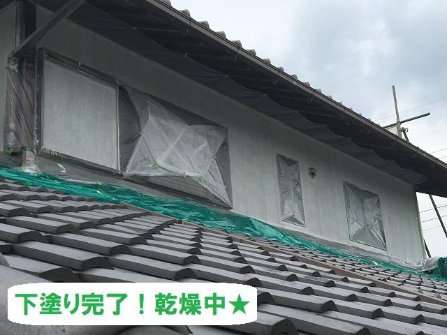 伊賀市 下塗り完了 外壁リフォーム