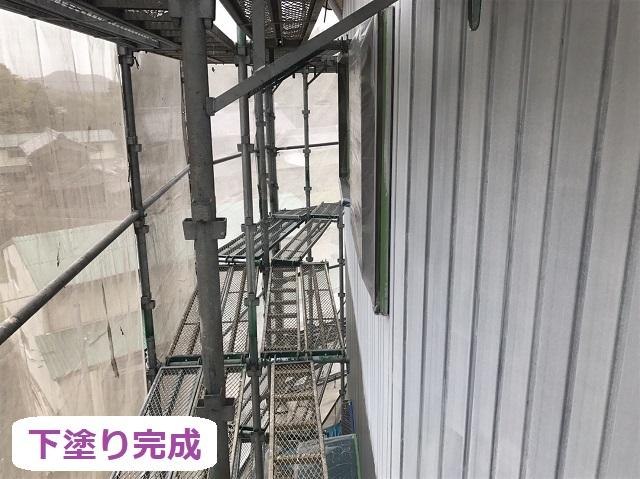 伊賀市 トタン外壁 下塗り完成